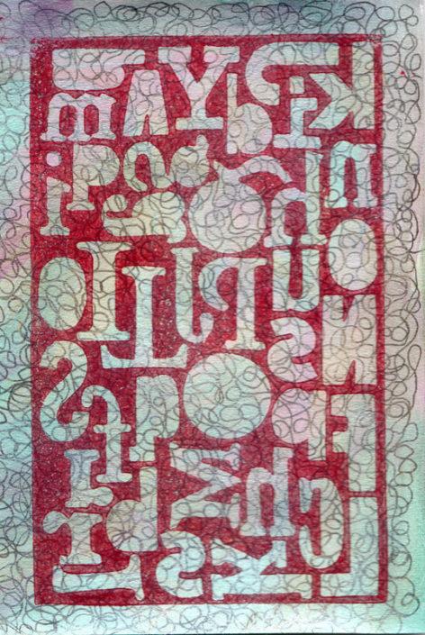 Stencil Over Scribbles